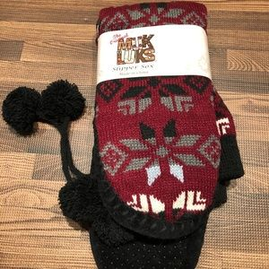 MUK LUKS - Women's Slipper Socks with Tassels S/M